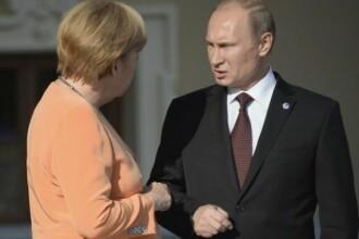 Putin a vorbit pentru prima data despre momentul in care a incercat sa o intimideze pe Angela Merkel.