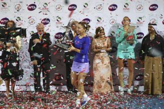 Simona Halep, campioana la Dubai. Romanca a invins-o pe Karolina Pliskova si a castigat al zecelea turneu din cariera