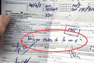 Motivul amuzant pe care l-a invocat un sofer amendat pentru viteza. Ce a scris la rubrica