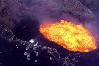 Imagini spectaculoase filmate deasupra unui vulcan activ din Vanuatu, cu ajutorul unor drone. VIDEO