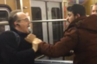 Incident violent, filmat la metrou, in Munchen. Motivul pentru care un grup de imigranti a atacat doi pensionari. VIDEO