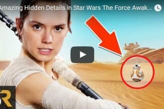 VIDEO. 10 detalii pe care probabil ca le-ai omis la prima vedere in filmul Star Wars: The Force Awakens