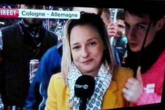 O jurnalista belgiana, agresata sexual chiar in timpul unei transmisiuni live din Germania. Politia ii cauta pe atacatori