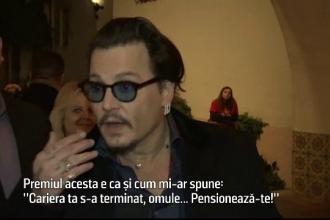 Johnny Depp, premiu pentru cel mai iubit actor american. Reactia artistului inainte de ceremonie