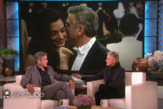 George Clooney a dezvaluit in emisiunea lui Ellen DeGeneres cum a cerut-o in casatorie pe sotia sa.