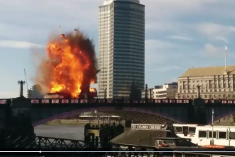 Explozie uriasa in centrul Londrei. Imaginile au devenit virale pe retelele de socializare. VIDEO