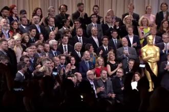 Dineul pentru nominalizatii la Oscar 2016, sub scandalul boicotului. Fotografia de grup