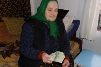 Batrana din Romania care traieste cu o pensie de 3 lei.