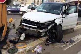 Accident cu patru raniti in Constanta. Imaginile filmate un martor dupa producerea impactului