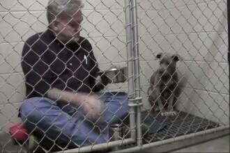 Un veterinar s-a inchis in cusca langa catelusa salvata de pe strada. Ce a urmat a impresionat 6 milioane de oameni