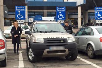 Cine isi lasa masina de fapt pe locurile destinate persoanelor cu dizabilitati in parcarea de la Aeroportul Otopeni
