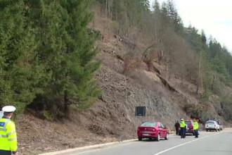 Drumul ce leaga Transilvania de Moldova, blocat de prabusirea stancilor. O catastrofa a fost evitata in ultima clipa