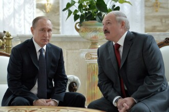 Gafa amuzanta comisa de presedintele belarus la intalnirea cu Vladimir Putin. Reactia liderului de la Kremlin. VIDEO