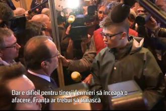 Protest violent fata de Francois Hollande. Criza profunda din agricultura franceza i-a adus la capatul rabdarii pe fermieri