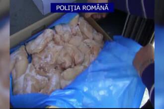 Tone de carne expirata de luni de zile, descoperite de Politie. Unde urma sa ajunga transportul