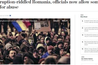 The Washington Post: In Romania exista de acum un tip acceptabil de coruptie. Observatorii, socati de masura