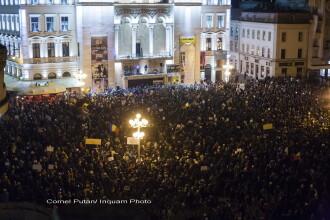 200.000 de persoane au protestat in 50 de orase ale tarii:
