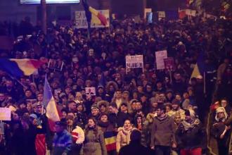 Peste 200.000 de oameni in strada in toata tara, dupa ce Dragnea si Grindeanu au anuntat ca nu renunta la ordonanta