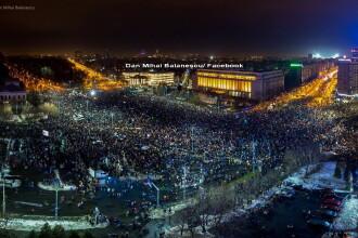 Ziua a cincea de proteste. Participare record in Capitala: 170.000 de oameni: