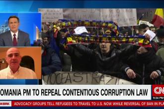 Interviu C.R. Tanase pentru CNN despre protestele din Romania: Romanii nu au iesit in strada pentru bani, ci pentru principii
