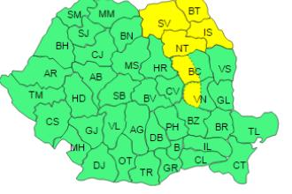 Alerta de vreme rea pana joi, Romania lovita de un ciclon. ANM a emis cod galben de ninsori in 6 judete