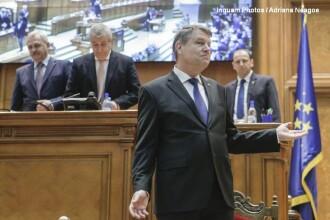 Klaus Iohannis vrea sa tina un discurs in Parlament, pe 9 mai. Scrisoarea presedintelui pentru Dragnea si Tariceanu