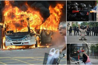 Haos si anarhie in Brazilia. Infractorii si criminalii fac prapad pe strazi, dupa ce politia a intrat in greva. GALERIE FOTO