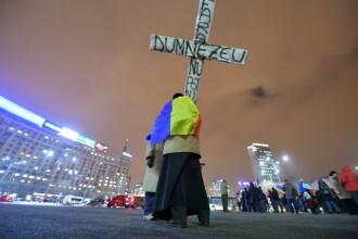 A 14-a zi consecutiva de proteste in Capitala. Cateva sute de persoane au protestat in fata Guvernului.