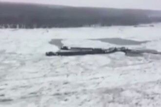 Incidentele pe Dunare continua! O barja incarcata cu 800 de tone de pietris s-a rasturnat langa localitatea Dervent