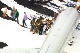 44 de pasageri, evacuati de urgenta dintr-un avion American Airlines. Incidentul petrecut in timpul decolarii, cu un cerb