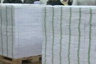 Un artist din Republica Moldova a organizat o expozitie cu 10 baloti de bani falsi, ca sa arate cat s-a furat. VIDEO