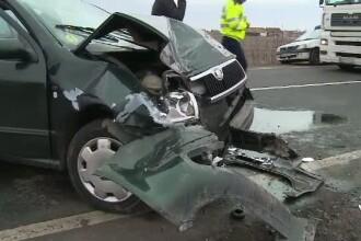 O femeie din Timisoara si-a pierdut viata intr-un accident. Sotul ar fi atipit la volan si a intrat cu masina pe contrasens