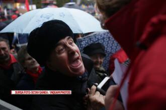 Miting de sustinere pentru Guvern, la Targoviste. Un primar PSD s-a suparat pe colegi: