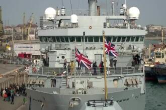 Patru nave de luptă NATO britanice și turcești se află în Portul Constanța
