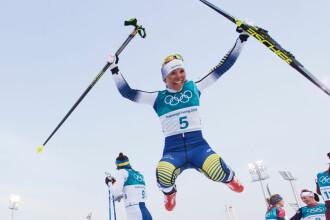 JO de iarnă: Suedeza Charlotte Kalla, prima sportivă care a luat aurul la Pyeongchang