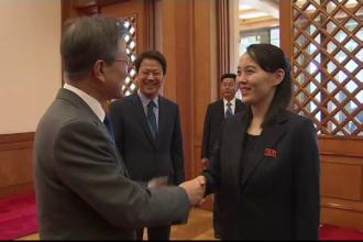 Sora lui Kim Jong-un şi-a făcut prima apariţie publică după aproape 2 luni