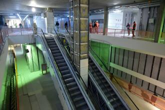 Stadiul lucrărilor la metroul spre Drumul Taberei. Două stații au zero finisaje