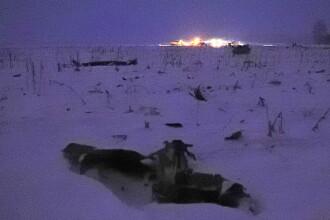 Imagini de la locul tragediei aeriene din Rusia. Mărturiile celor care au văzut avionul căzând