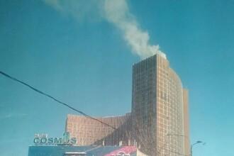Un hotel cu 1.777 de apartamente din Rusia a fost cuprins de flăcări
