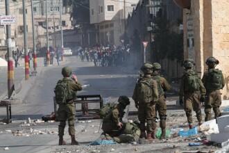 Palestinieni ucişi în Gaza de soldaţii israelieni.