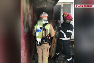 Un bătrân din Oradea a ars de viu în casă, după ce televizorul i-a luat foc