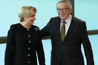"""Juncker, alături de Dăncilă la Bruxelles: """"Este al 5-lea premier pe care îl întâmpin"""""""
