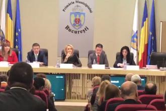 Scandal în Consiliul General al Municipiului București. Unui consilier USR i s-a tăiat microfonul