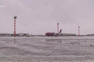 Zbor anulat și mai multe curse cu întârzieri pe aeroportul Henri Coandă