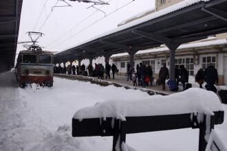 Mersul trenurilor, 18 decembrie. Întârzieri de peste două ore, în Gara de Nord