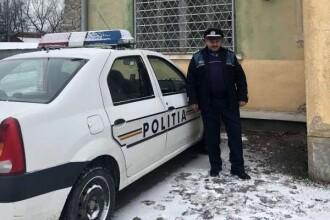 Un poliţist aflat în timpul liber a scos doi minori dintr-o casă în flăcări, salvându-le viaţa
