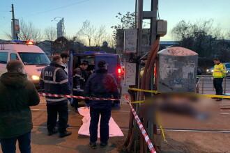 Incident șocant în Capitală. Un bărbat a fost împins în fața tramvaiului și a murit