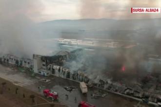 Pagube de zeci de milioane de euro după incendiul dezastruos din Alba Iulia