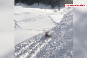 Cum s-a petrecut avalanșa din Călimani. Victima, târâtă 200 de metri de zăpadă