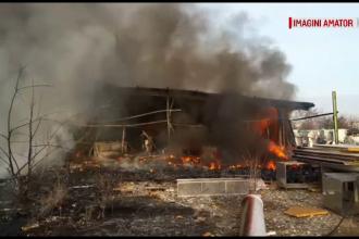 Incendiu la depozitul unei foste fabrici de pâine pe șoseaua de centură a Capitalei